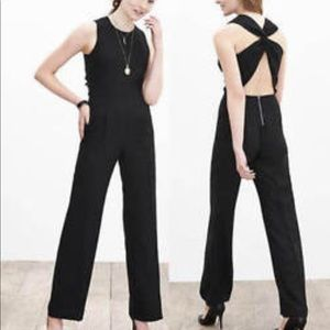 Banana Republic Cross-Back Jumpsuit Suit SZ 4P NEW